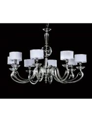 Modern Chandelier Design Crystal Shades White Tp 167-LA-8-16