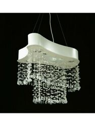 Chandelier A Led From Ceiling Modern Design Lamp Hanging Crystal 55
