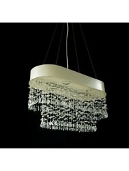 Chandelier A Led From Ceiling Modern Design Lamp Hanging Crystal 26
