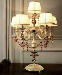 Table Lamp Light Classic Crystal Brass
