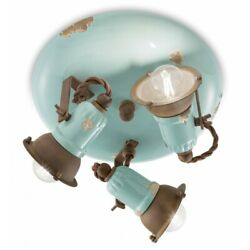 Ceiling From Ceiling Wrought Iron Classic Ceramics Sky Blue