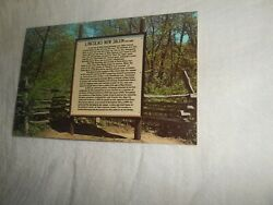 T Post Card -reconstructed Village Entrance To State Park-new Salemill
