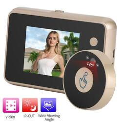 2.8in Screen Door Viewer Video Recording 720p Security Camera 2led Ir Night View