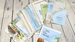 Vintage Lot Of 41 National Geographic Maps 1950s To 1970s World Us Asia Europe