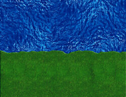 O Scale Stream River Kit Model Train Scenery Sheets Featuring Water Sand Grass
