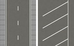 O Scale Road And Diagonal Parking Lot Combination Model Train Scenery Sheets