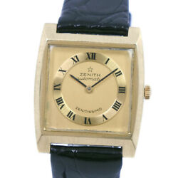 Zenith Zenitissimo Watches K18 Yellow Gold/leather Mens Golddial
