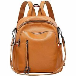 Fashion Genuine Leather Backpack Purse For Women Shoulder Bag Casual Daypack $94.83