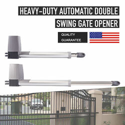 Electric Motor Automatic Dual Swing Gate Openers For Driveway Fence Gate