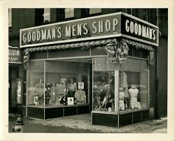 Goodmanand039s Menand039s Shop Vintage 8 X 10 Black And White Photograph Storefront Ny
