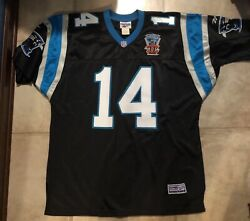 Authentic Reebok Frank Reich 1995 Inagural Year Carolina Panthers Jersey Large
