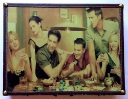 Friends Poker Set Game Case W/ Cards Chips Dice, Tv Show Episode, Gambling Night