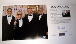 George Lucas And Francis Ford Coppolla Dual Signed 11x14 Photo Psa/dna Coa