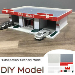 Mini 150 Scale Diy Assembly Model ''car Wash'' Model Building Scenery Toy