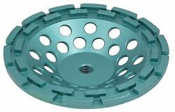 10-pack 7 Inch Diamond Cup Wheel Grinding Concrete,masonry, Double Row, With 5/