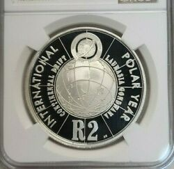 2007 South Africa Silver 2 Rand S2r Polar Year Ngc Pf 70 Ultra Cameo Perfection
