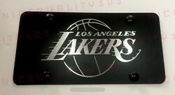 Laser Engraved Lakers Nba Los Angeles Stainless Steel Finished License Plate