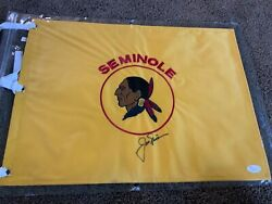 Seminole Golf Club Pin Flag Straight From Pro Shop. Jack Nicklaus Signed Jsa