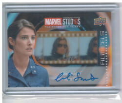 2019 Upper Deck Marvel Cinematic First 10th Years Colbie Smulders Film Cel Auto