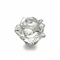 Waterford Crystal Collectables Rose Paperweight Height 6cm Discontinued