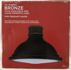 Oil Rubbed Bronze With Highlights Ans Clear Prismatic Lens Mini Pendant Shade