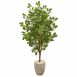 Nearly Natural 9356 5.5' Large Leaf Philodendron Artificial Plant in Orange Plan