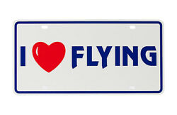 Degroff Aviation I Love Heart Flying Illusion License Plate - 6009ilf