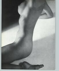 1965 Peter Basch Side View Torso Nude Female Breasts Photo Gravure