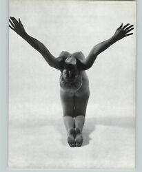 1965 Peter Basch Flexible Pose Nude Female Breasts Photo Gravure