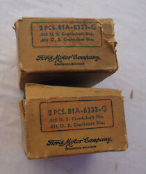 1938 1940 1948 Ford - Nos Engine Front And Center Main Bearing Pairs 81a-6333-g