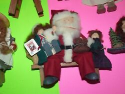 Vintage Santa Xmas Retired Lizzie High Doll Limited Edition Wooden Lot Of 8