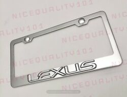 3d Lexus Stainless Steel Chrome Finished License Plate Frame