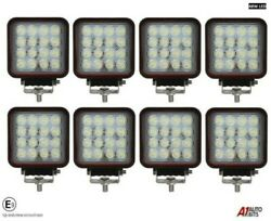 8x Hq 48w Led 4.3'' Square Led Work Lights Lamp Lorry Tractor Offroad 3012 Lm