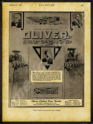 1912 Oliver Chilled Plow Works New Metal Sign Engine Gang Plows - Hamilton In