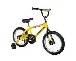 Magna Major Damage Boys Bike Coaster 16 Yellow/black Biking Riding Coasting