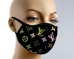 Colorful Designer Black Face Mask Filter Reusable Breathable Washable 3 Layers $17.95