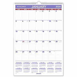 AT-A-GLANCE 2020 Monthly Wall Calendar 15-12