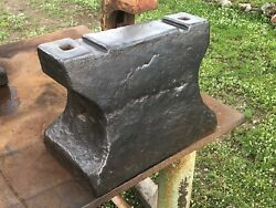 293 Lbs Ancient Forged German Blacksmith Anvil With Two Slots To Make Hammers