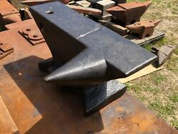 Old Forged Blacksmith Anvil Extra Long Side Horn And Half-height Block