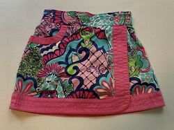 Lilly Pulitzer Size 5 Girls Jungle Theme Skort EUC