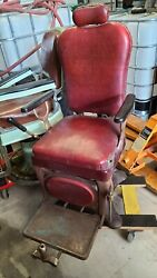 Vitnage 1800s 1900s Barber Chair Working