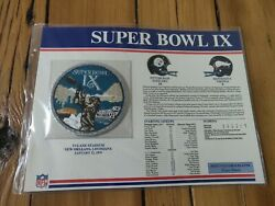 Super Bowl Ix 1975 Patch Collection Nfl Football Pittsburgh Steelers Minnesota