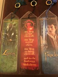 Harry Potter Original Collectible Tasseled Book Marks 7 With Gold Rings