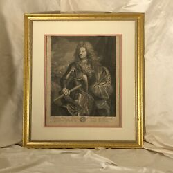 Hyacinthe Rigaud Antique Etching Lithograph General The Army Of King Louis Xiv