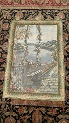 Huge Lake Como 18th Century Italian Reproduction Tapestry 40quot; x 60quot;