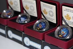 Set Of 4 - Star Charts 2015 - .9999 Silver Coins Royal Canadian Mint