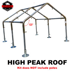 Fittings Only 1 Greenhouse Canopy Kit High Peak 10and039x20and039/30/40/50/60and039 Rv Boat
