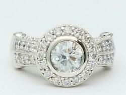 14K White Gold 71 Diamonds Engagement Ring 1.82 C.T.W. Size 6 (AP1064324)