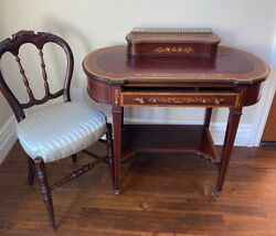 Antique Mahogany Desk And Chair Original Early 1900andrsquos Andnbspin Good Conditionandnbsp