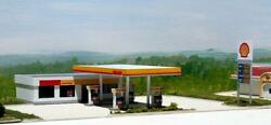 Shell Service Station Building Kit 165x100x40mm N 1/160 Scale By Summit Sh-002